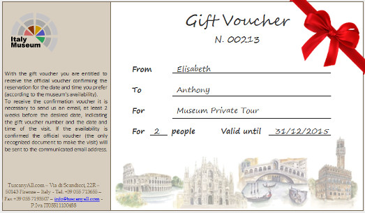 Gift Voucher - Last Supper, Brera, Tickets, Group and Private Tours